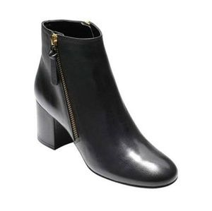 Cole Haan grandos black leather ankle booties